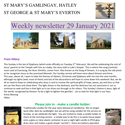St Mary's, Gamlingay, weekly newsletter – 29th January 2021.