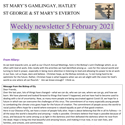 St Mary's, Gamlingay, weekly newsletter – 5th February 2021.