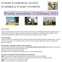 St Mary's, Gamlingay, weekly newsletter – 12th February 2021.