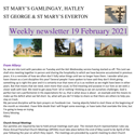 St Mary's, Gamlingay, weekly newsletter – 19th February 2021.