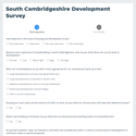 Survey by Anthony Browne MP about house building in South Cambridgeshire, February 2021.