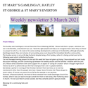 St Mary's, Gamlingay, weekly newsletter – 5th March 2021.