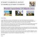 St Mary's, Gamlingay, weekly newsletter – 19th March 2021.