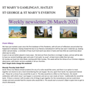 St Mary's, Gamlingay, weekly newsletter – 26th March 2021.