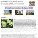 St Mary's, Gamlingay, weekly newsletter – 2nd April 2021.