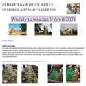 St Mary's, Gamlingay, weekly newsletter – 9th April 2021.