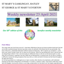 St Mary's, Gamlingay, weekly newsletter – 23rd April 2021.