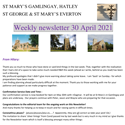 St Mary's, Gamlingay, weekly newsletter – 30th April 2021.