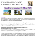 St Mary's, Gamlingay, weekly newsletter – 21st May 2021.