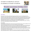 St Mary's, Gamlingay, weekly newsletter – 28th May 2021.