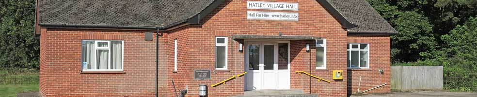 Hatley Village Hall, in Hatley St George, Cambridgeshire, SG19 3HW. It is available for hire any day or evening of the week. Contact the Parish Clerk on 01767 650 596.