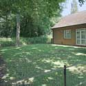 The garden area behind Hatley Village Hall, in Hatley St George, Cambridgeshire – great for barbecues. The Hall is available for hire any day or evening of the week. Contact the Parish Clerk on 01767 650 596.