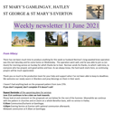 St Mary's, Gamlingay, weekly newsletter – 11th June 2021.