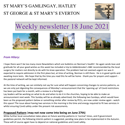 St Mary's, Gamlingay, weekly newsletter – 181th June 2021.