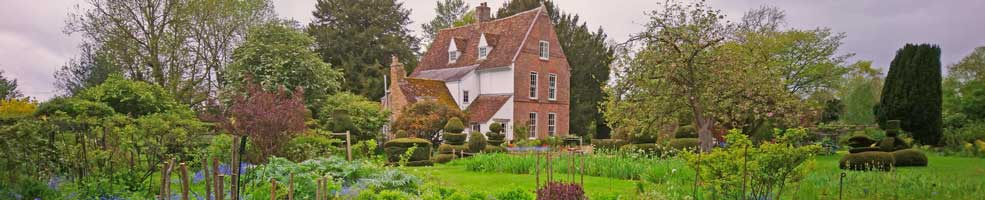 The Manor, Hemingford Grey, Cambridgeshire - 21-5-21. It's the home of the Green Knowe stories and Lucy Boston's fantastic patchwork collection – she also laid out the wonderful garden.