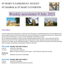 St Mary's, Gamlingay, weekly newsletter – 9th July 2021.