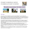 St Mary's, Gamlingay, weekly newsletter – 16th July 2021.