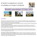 St Mary's, Gamlingay, weekly newsletter – 23rd July 2021.