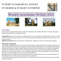 St Mary's, Gamlingay, weekly newsletter – 30th July 2021.