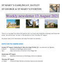 St Mary's, Gamlingay, weekly newsletter – 13th August 2021.