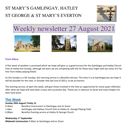 St Mary's, Gamlingay, weekly newsletter – 27th August 2021.