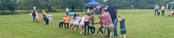Sarah Titmus' photo of the tug-of-war at the Hatley and Gamlingay Church Fête in Hatley St George, Cambridgeshire, 29th August 2021.