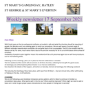 St Mary's, Gamlingay, weekly newsletter – 17th September 2021.