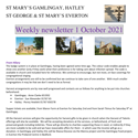 St Mary's, Gamlingay, weekly newsletter – 1st October 2021.