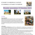 St Mary's, Gamlingay, weekly newsletter – 15th October 2021.